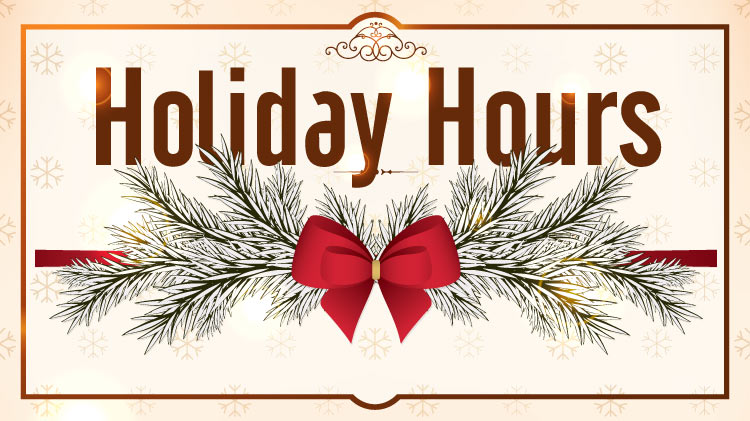Holiday Schedule and Closings