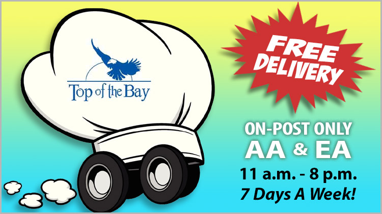 Top of the Bay - Delivery Menu
